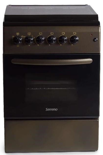 Aragaz Mixt Serreno SER 6060CP GE, Cuptor electric, Verde