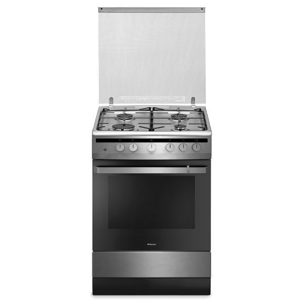 Aragaz pe gaz Hansa FCGX61109, grill, rotisor, inox