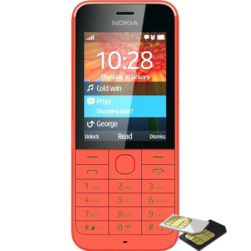 Telefon mobil Nokia Asha 220 Dualsim Red