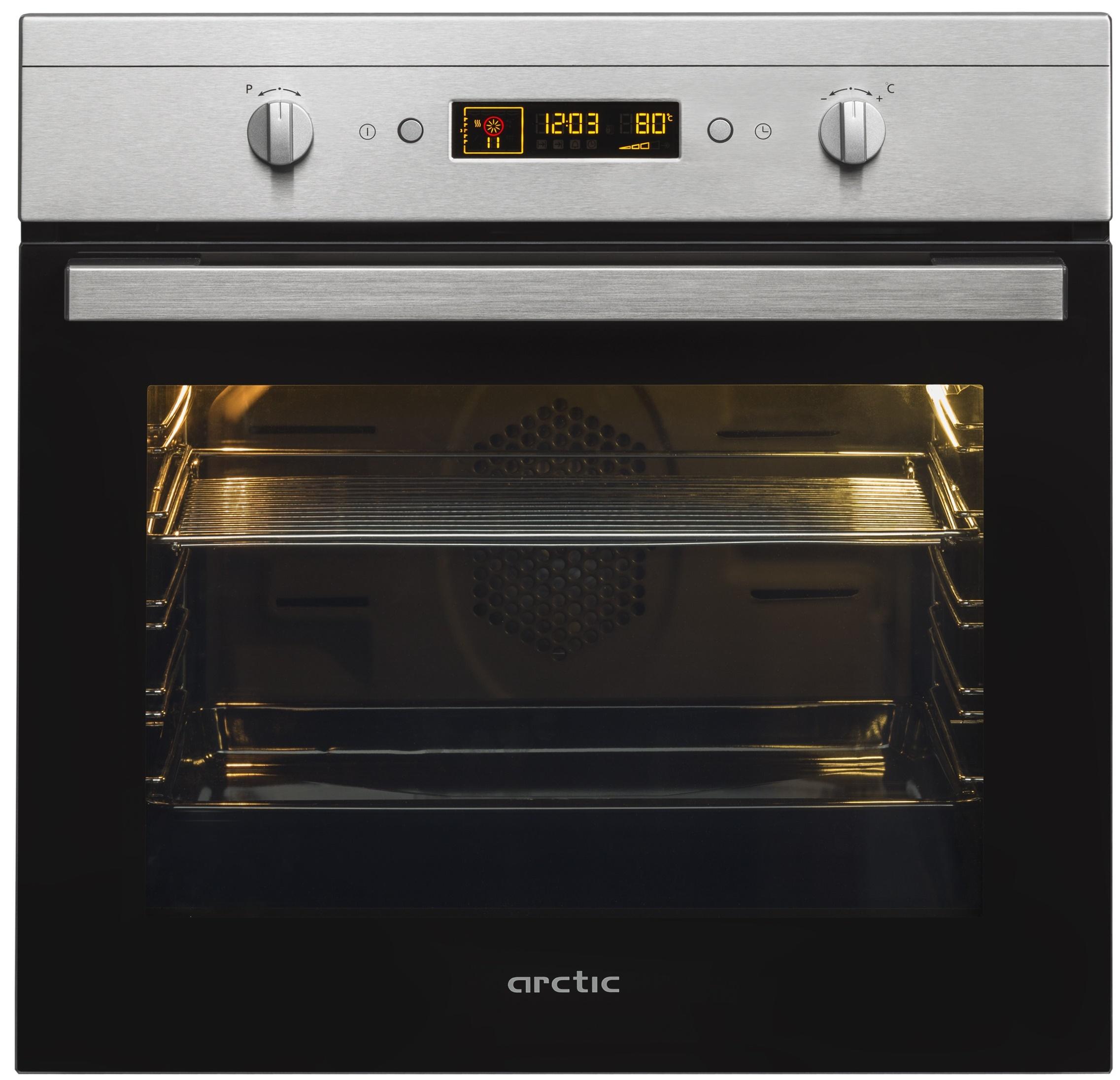 Cuptor incorporabil electric Arctic AROIM22500X, 71L, grill, negru si inox