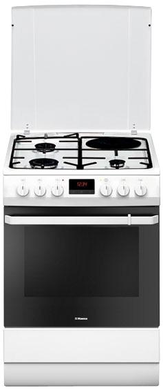 Aragaz Hansa FCMW68209, arzatoare mixte, cuptor electric, alb