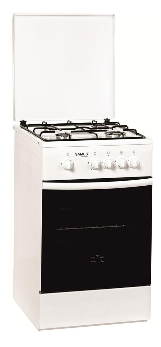 Aragaz pe gaz Samus SM 550 ANS, 4 arzatoare, alb