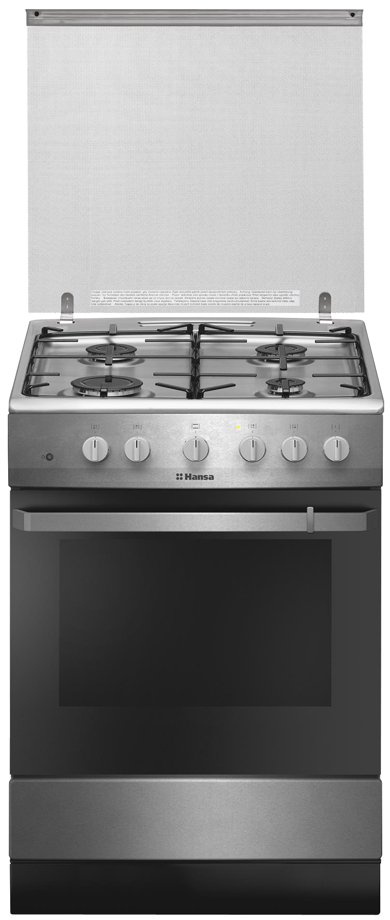 Aragaz Hansa FCGX621009, Gaz, Aprindere electrica, Argintiu