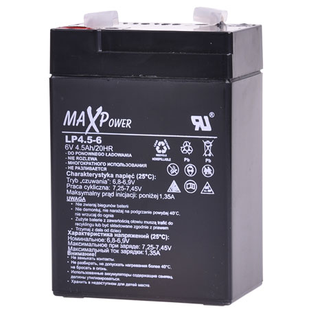 ACUMULATOR STATIONAR SLA 6V 4.5AH MAXPOWER BAT0401