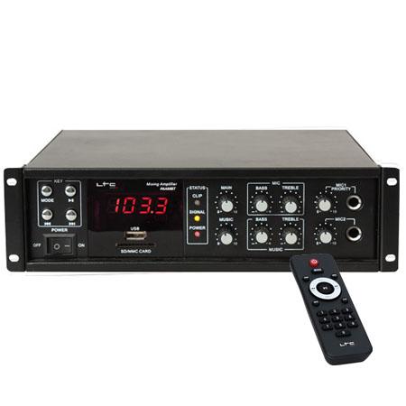 AMPLIFICATOR LINIE 100V/8OHM 50/80W USB BLUETOOTH PAA80BT