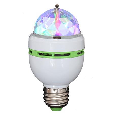 LICHIDARE STOC- BEC E27 CU LED-URI RGB 1WX3 CAP ROTATIV ASTRO-MICRO