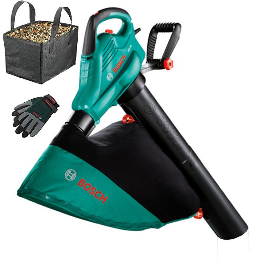 BOSCH ALS 30 Aspirator/suflator frunze 3000 W + Punga colectoare + Manusi 06008A1101