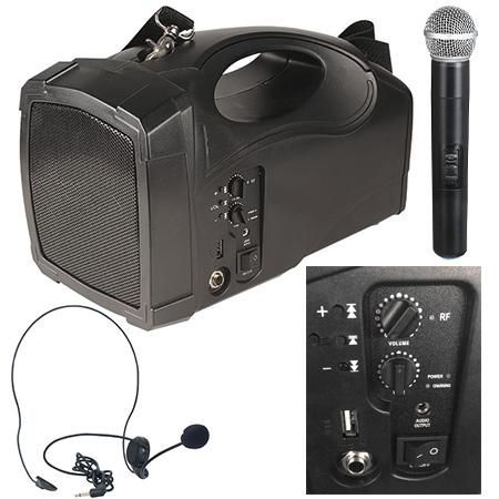 BOXA PORTABILA 20W RMS MP3/USB/BT MICROFON WIRELESS BST PORT4BT