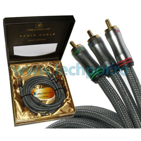 CABLU 3RCA-3RCA 1.8M CABLETECH GOLD EDITION KPO3823
