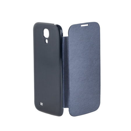 FLIP BOOK COVER CASE GALAXY S4 ALBASTRU ML0554