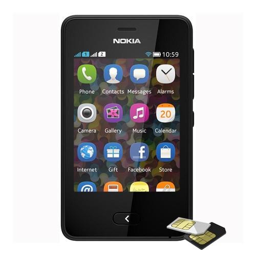 Telefon mobil Nokia Asha 501 Dualsim Negru