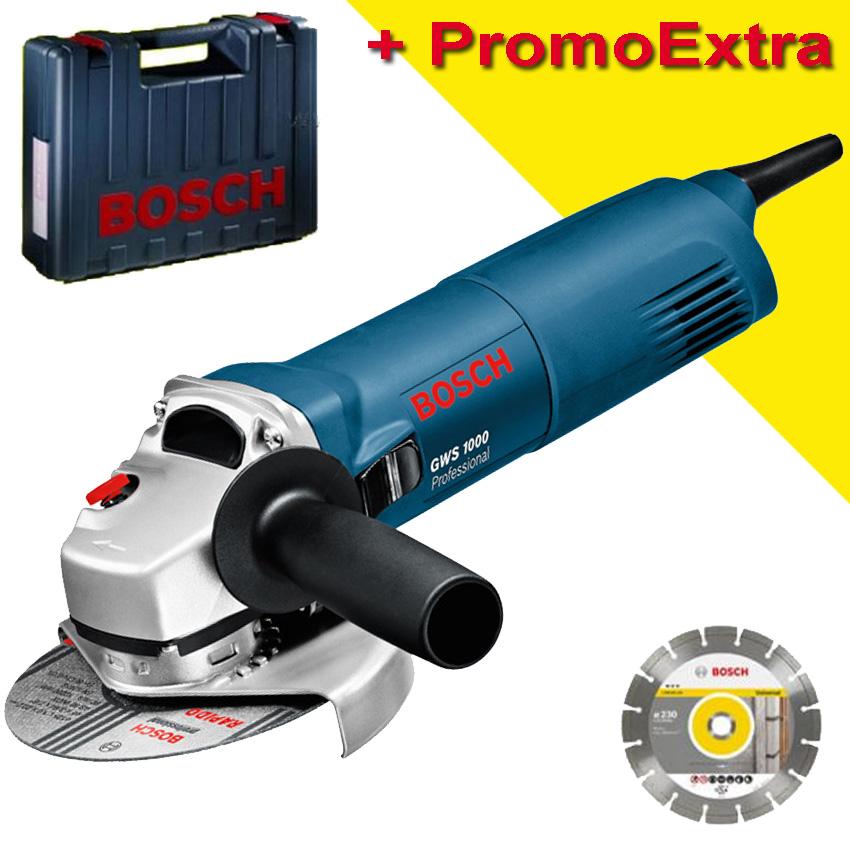 BOSCH GWS 1000 + DISC DIA Professional Polizor unghiular 1000 W 0601821900