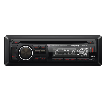 RADIO CD PLAYER 4X25W USB/SD/MMC PEIYING PY6688