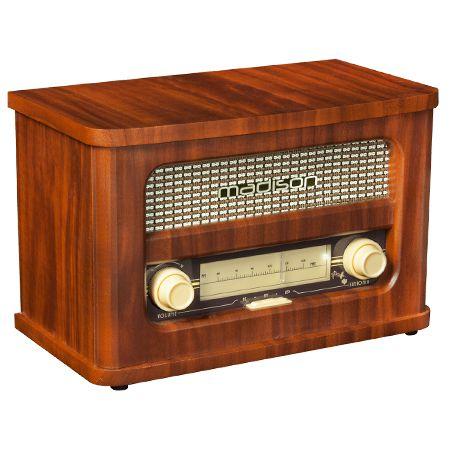 RADIO RETRO FM CU ACUMULATOR BLUETOOTH SI USB MADRETRORADIO