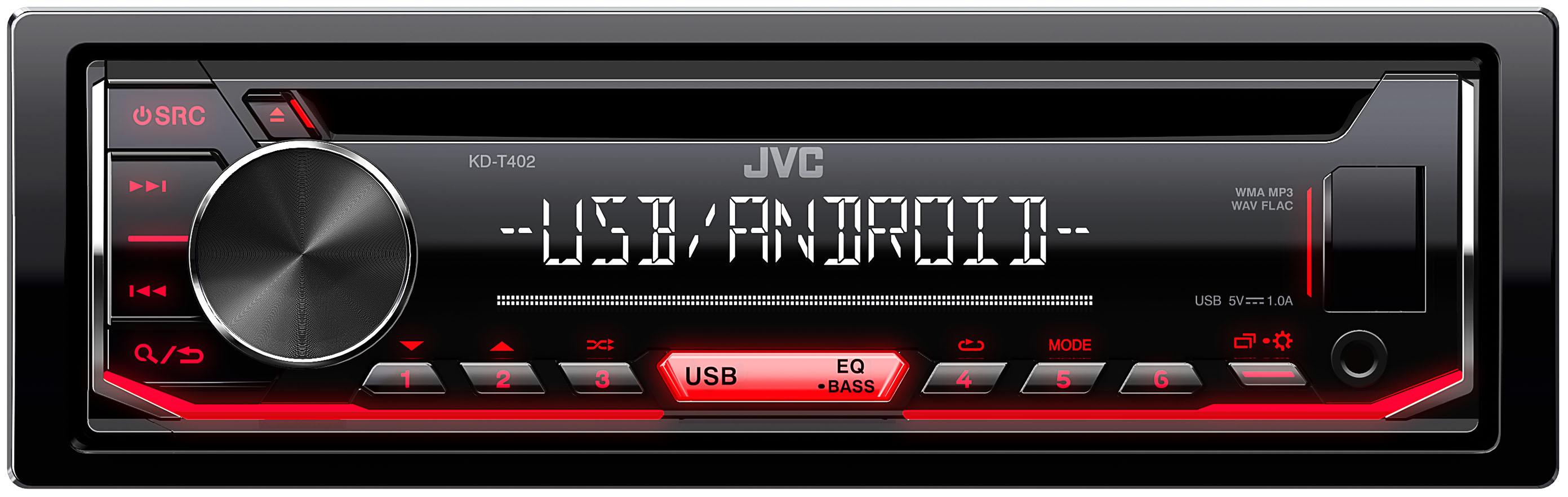 Receptor CD 1-DIN JVC KDT402