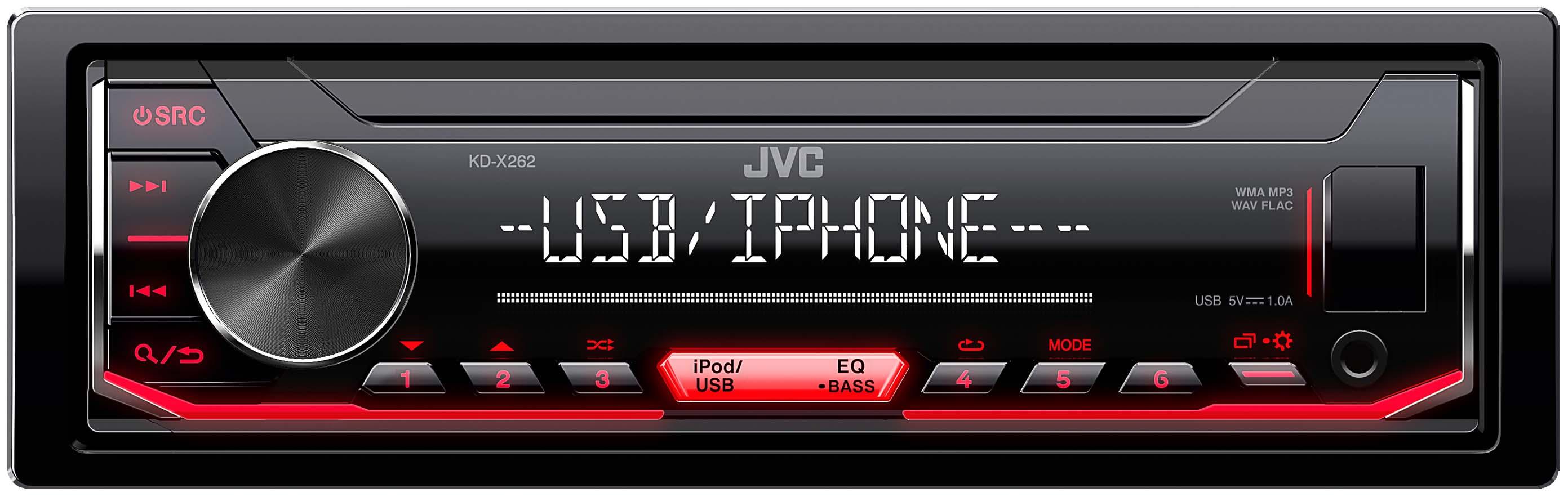Receptor digital 1-DIN JVC KDX262