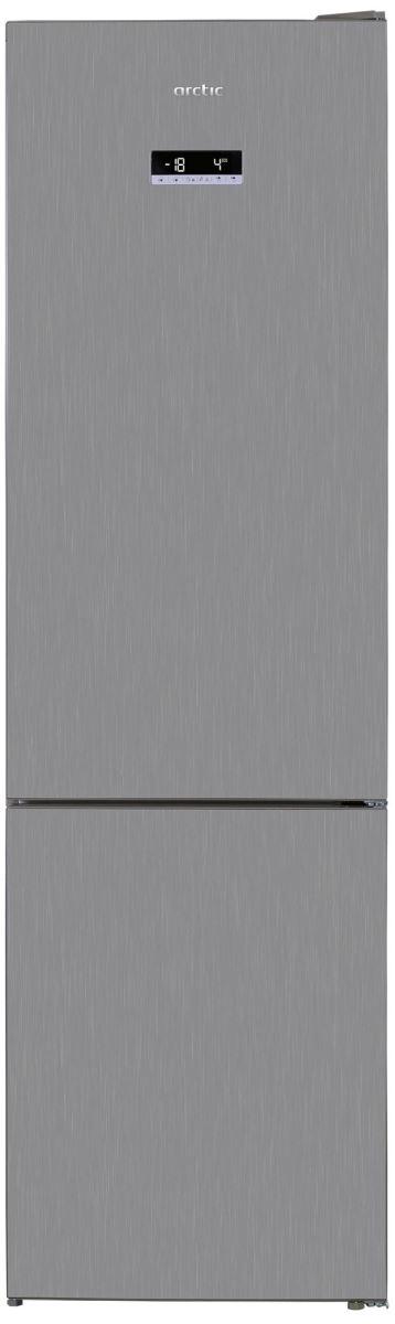 Combina frigorifica Arctic AK60406E40NFMT, 362 L, Full No Frost, Metal Look, E