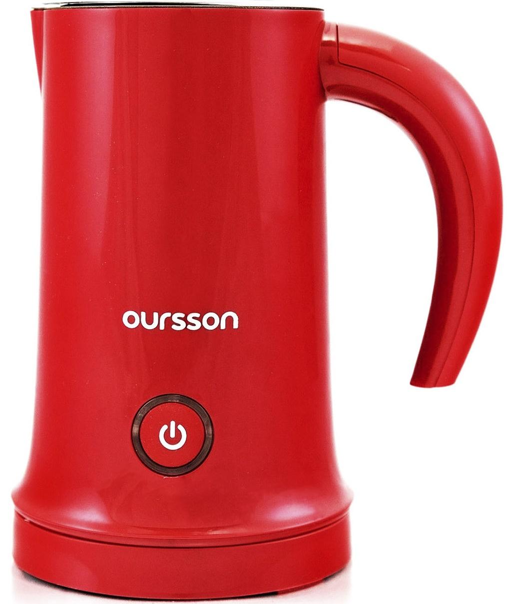Aparat de spumare a laptelui Oursson MF2005/RD, 450W, rosu
