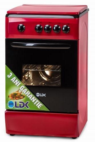 Aragaz LDK 5060 RED, 50cm, Rosu