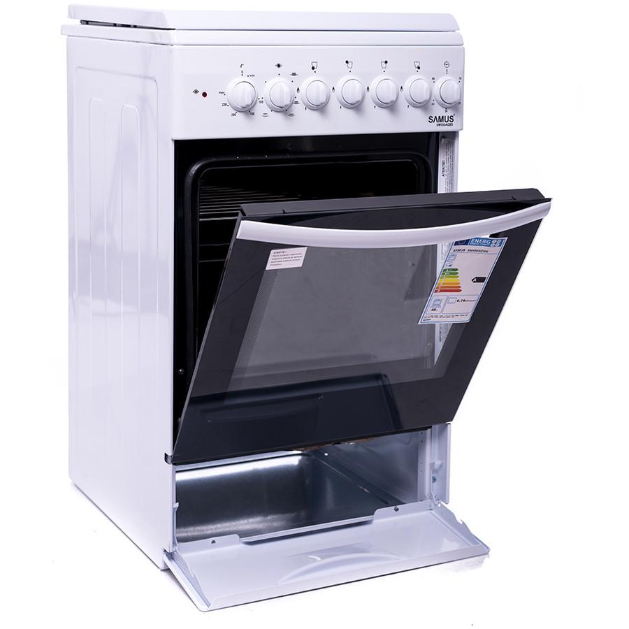 Aragaz mixt Samus SM 550 AEBS1E, 4 arzatoare mixte, cuptor electric ,alb