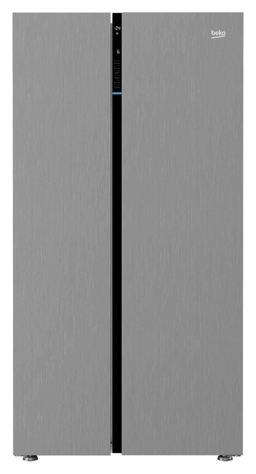 Frigider Side By Side Beko GN163122X, 558l, Inox antiamprenta, A+, Neo Frost