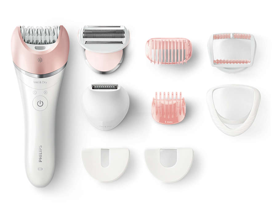 Epilator umed si uscat Satinelle Advanced Philips BRE640/00