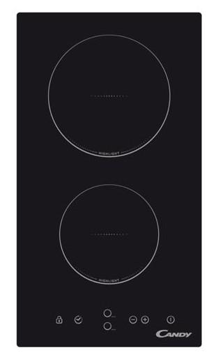 Plita incorporabila Candy CDH30, Sticla ceramica neagra, Electric