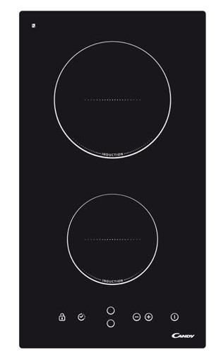 Plita incorporabila Candy CDI30, Inductie, Sticla ceramica neagra
