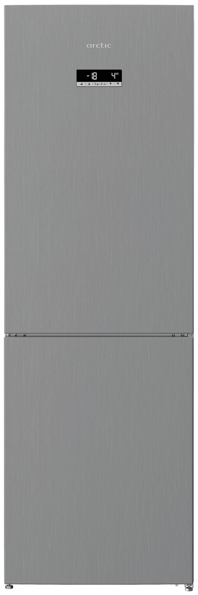 Combina frigorifica Arctic AK60366E40NFMT, 324 L, Full No Frost, Argintinu, E