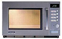 Cuptor cu microunde profesional R25AM, 2100W, 20L, Analogic, Inox