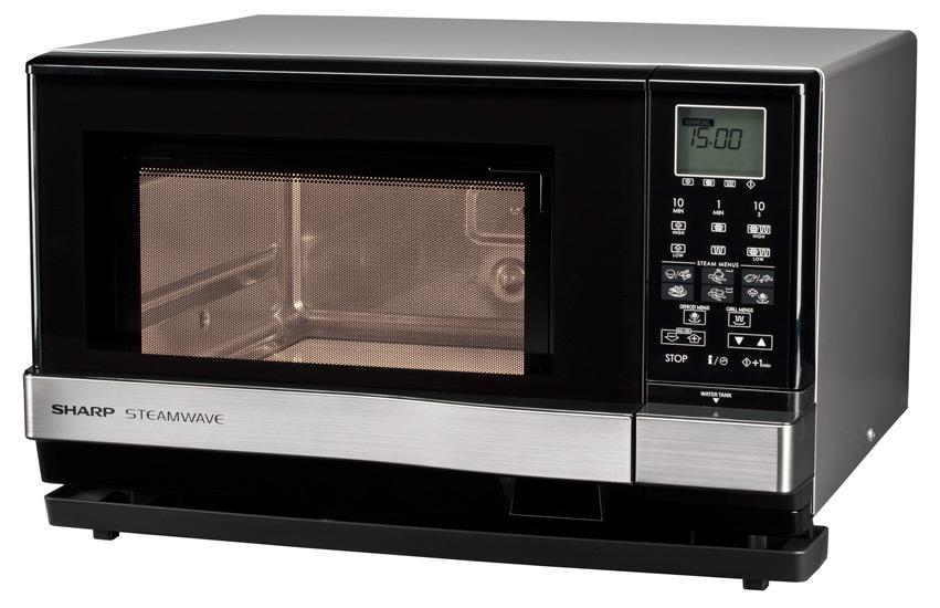 Cuptor cu microunde Sharp AX1100IN, 900W, 27L, Digital, Inox