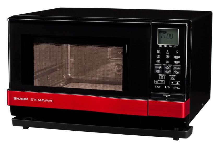 Cuptor cu microunde Sharp AX1100R, 900W, 27L, Digital, Negru