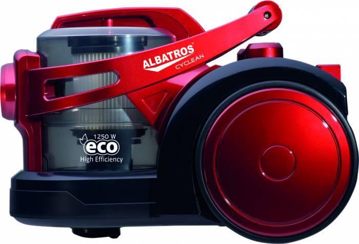 Aspirator fara sac Albatros CYCLEAN ECO, 1250 W, rosu