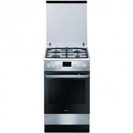 Aragaz Hansa FCMX582509, 4 arzatoare pe gaz, cuptor electric, grill, clasa energetica A