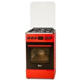 Aragaz LDK 5060 D ECAI RED FR LPG, Termostat, 6 Functii, Rosu