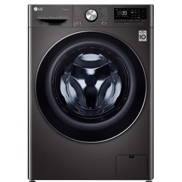Masina de spalat rufe LG F4WV910P2S, 10.5 kg, 1400 RPM, Wi-Fi, Negru, A+++