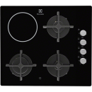 TRANSPORT GRATUIT - Plita mixta Electrolux EGE6182NOK, 3 zone gaz + 1 vitroceramica, negru