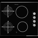 TRANSPORT GRATUIT - Plita mixta Electrolux EGE6172NOK, 2 zone gaz + 2 vitroceramice, 60 cm, negru
