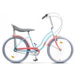 """Bicicleta Pegas Strada2 17STRADA2ST3STUR, 26"""", 3 Viteze, Turcoaz Mofturos"""