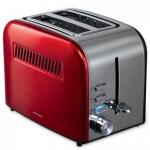 Prajitor de paine Heinner HTP-850RDIX, Crisp Passion, Rosu/Inox
