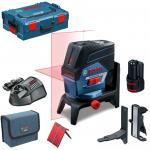 BOSCH GCL 2-50 C + RM 2 + BT 150 Nivela laser cu linii cu 1 acu 12 V (20 m) cu Bluetooth + Suport rotatv + Stativ + L-BOXX 0601066G03