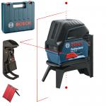 BOSCH GCL 2-15 + RM 1 Nivela laser cu linii (15 m) + Suport multifunctional + Geanta 0601066E02