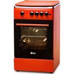 Aragaz LDK 5060 A Brick Red RMV Glass NG, Aprindere Electrica, 50x60 cm, Rosu