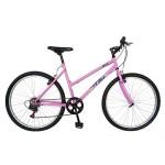 Bicicleta MTB-HT 26 RICH BIKE R2617A, cadru otel, culoare roz