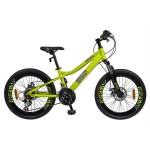Bicicleta MTB-HT 22 VELORS V2220C, cadru aluminiu, culoare galben gri