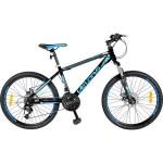 Bicicleta 24 Velors V2409A, pentru copii, NegruAlbastru