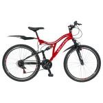 Bicicleta 24 Velors 2459A, pentru copii, AlbRosu