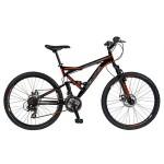Bicicleta 24 Velors 2413B, pentru copii, NegruPortocaliu