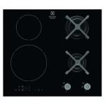 Plita mixta incorporabila Electrolux EGD6576NOK, 4 arzatoare, negru