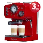 Espressor manual Oursson EM 1500/RD, 15 bari, Rosu